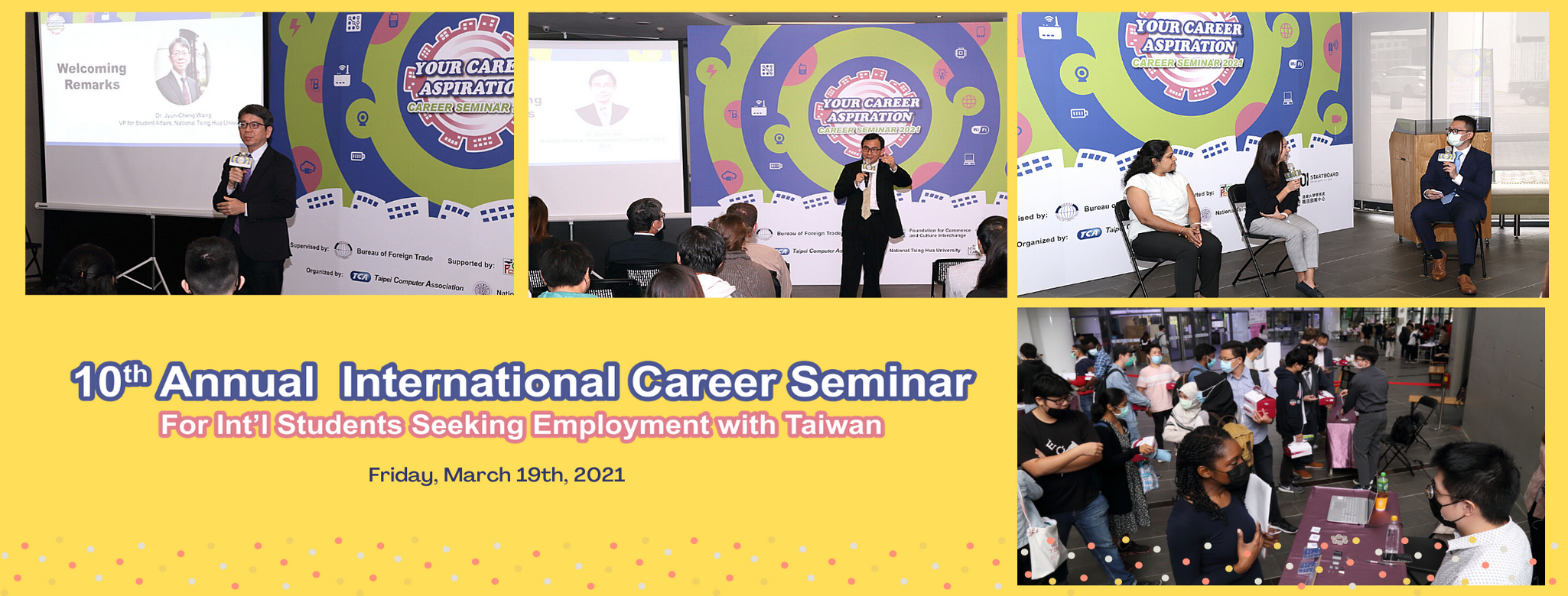 【Career Seminar 2021】 For Int'l Talents Seeking Employment with Taiwan!
